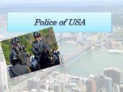 Police of USA History Police of USA