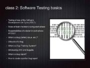 class 2 Software Testing basics Testing phase