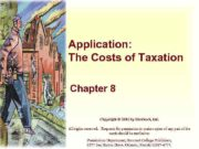 Application The Costs of Taxation Chapter 8 Copyright