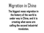 Migration in China The biggest mass migration in