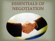 Specific forms of negotiation