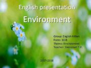 English presentation Environment Group English Kitten Form 10
