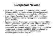 Биография Чехова Родился в г Таганроге 17