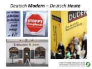 Deutsch Modern Deutsch Heute Inhalte des