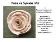 Роза из бумаги МК 1 Роза изготовлена из