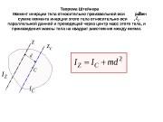Теорема Штейнера Момент инерции тела относительно произвольной оси