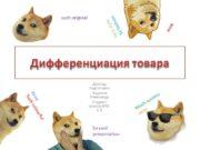 Дифференциация товара Доклад подготовил Будаков Александр Студент группы