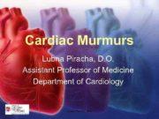 Cardiac Murmurs Lubna Piracha D O Assistant Professor