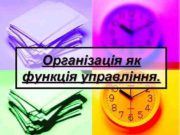 Організація як функція управління Лінійна організаційна структура