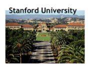 Stanford University Stanford University The Leland Stanford