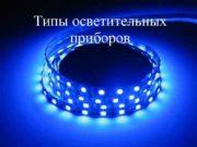 Типы осветительных приборов Все привычные лампы накаливания