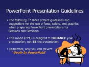 Power Point Presentation Guidelines The following 37