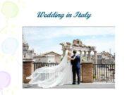Wedding in Italy Italy — the scene