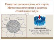 Понятие политологии как науки Место политологии в системе