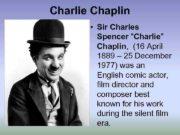 Charlie Chaplin Sir Charles Spencer Charlie Chaplin