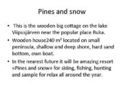 Pines and snow This is the wooden