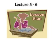 Lecture 5 — 6 Plan 1 2