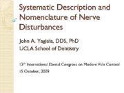 Systematic Description and Nomenclature of Nerve Disturbances John