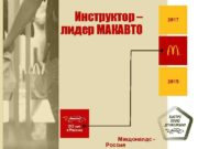 Инструктор лидер МАКАВТО 2017 2015 Макдоналдс Россия