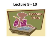 Lecture 9 — 10 Plan 1 2