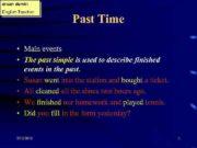 ercan demir English Teacher Past Time Main