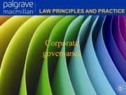Corporate governance Corporate Law Law principles and
