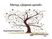 Метод Дерево целей Подготовила Сидорова Е Н