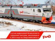Случаи нарушений безопасности движения поездов допущенные в 2014