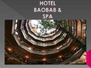 HOTEL BAOBAB SPA The hotel is