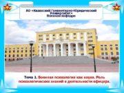 АО Казахский Гуманитарно-Юридический Университет Военная кафедра Тема 1