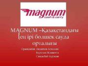MAGNUM Қазақстандағы ең ірі бөлшек сауда орталығы Орындаған