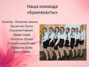 Наша команда Бриллианты Капитан — Мазитова Анжела Бродягина