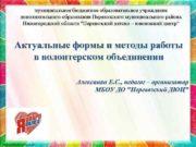 муниципальное бюджетное образовательное учреждение дополнительного образования Перевозского муниципального