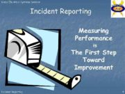 Global Electrical Systems Seminar Incident Reporting Measuring Performance