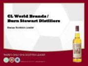 CL World Brands Burn Stewart Distillers Виски