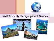 Articles with Geographical Names No article