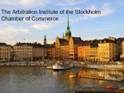 The Arbitration Institute of the Stockholm Chamber of