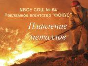 МБОУ СОШ 64 Рекламное агентство ФОКУС Плавление