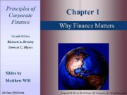 1 — 1 Principles of Corporate Finance Chapter