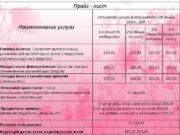 Прайс — лист Наименование услуги Стрижка женская