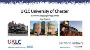 UKLC University of Chester Summer Language Programme July-August
