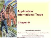 Application International Trade Chapter 9 Copyright 2001