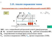 1 2 15 Анализ поражения током Электрическая сеть