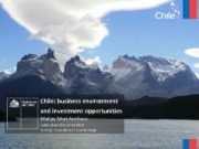 Chile business environment and investment opportunities Matías Mori