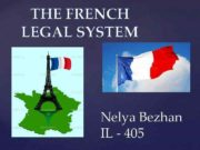 THE FRENCH LEGAL SYSTEM Nelya Bezhan IL —