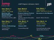 JUMP Program s Schedule March Date March 5 Date