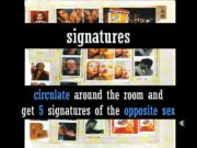 signatures circulate around the room and get 5