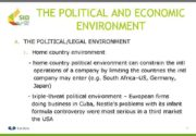 THE POLITICAL AND ECONOMIC ENVIRONMENT A THE POLITICAL LEGAL