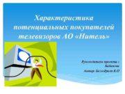 Характеристика потенциальных покупателей телевизоров АО Нитель Руководитель проекта