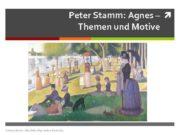 Peter Stamm Agnes Themen und Motive Andreas